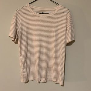 Pacsun pink and white striped tee shirt